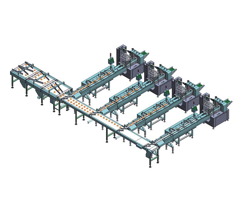 分道式一拖四自动理料线NH-F4
